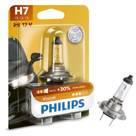 Bec auto far halogen H7 Philips Vision, 12V, 55W, blister 1 buc