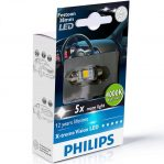 Bec LED auto Festoon C5W 38 mm Philips Xtreme Vision LED, 4000K, 12V, 1W