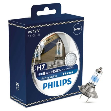 Set 2 becuri auto far halogen Philips H7 Racing Vision +150%