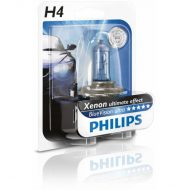 Bec auto far halogen Philips H4 Bluevision Ultra, 12V, 55W / 60W, blister 1 bec