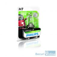 Bec auto far H7 Philips Long Life Eco Vision, 12V, 55W, blister 1 bec