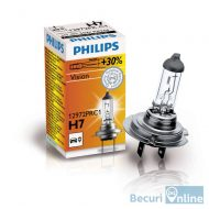 Bec auto far halogen H7 Philips Vision, 12V, 55W, cutie 1 bec