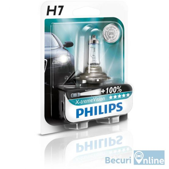 Bec auto far halogen H7 Philips Xtreme Vision +130, 12V, 55W, blister 1 bec