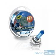Becuri camion H4 Philips Master Duty Blue Vision, 24V, 75/70W