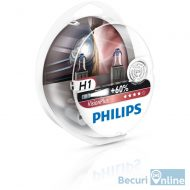 Set 2 becuri auto far halogen H1 Philips Vision Plus 60, 12V, 55W