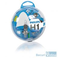 Set becuri auto de rezerva H1 Philips Essential Box, 12V