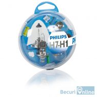 Set becuri auto de rezerva H1/H7 Philips Essential Box, 12V