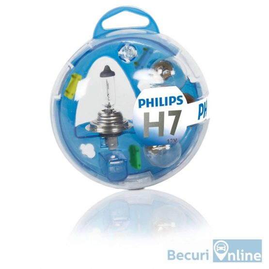 Set becuri auto de rezerva H7 Philips Essential Box, 12V