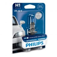 Bec auto far halogen H1 Philips White Vision, 12V, 55W, blister 1 bec