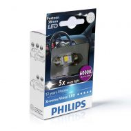 Bec LED Festoon C5W 38 mm Philips Xtreme Vision LED, 6000K, 12V, 1W, 128592LED
