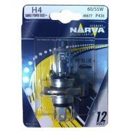 Bec auto far halogen H4 Narva Range Power Blue, 12V, 60/55W, blister 1 bec