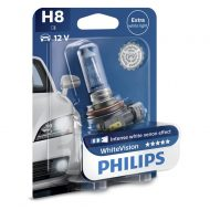 Bec auto far halogen H8 Philips White Vision, 12V, 35W, blister 1 bec