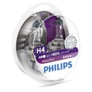 Becuri far H4 Philips Vision Plus 60, 12V, 60/55W, set 2 buc