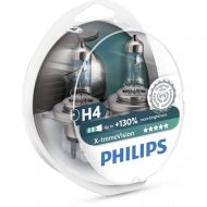 Becuri far H4 Philips Xtreme Vision +130, 12V, 60/55W, set 2 buc