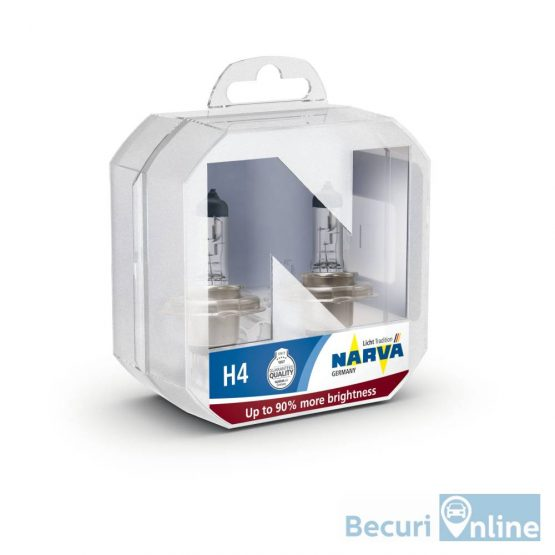 Set 2 becuri auto H4 Narva Range Power +90, 12V, 60/55W