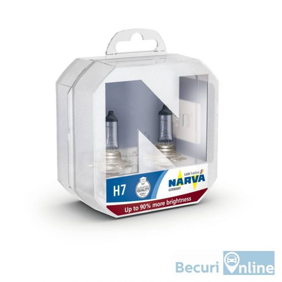 Set 2 becuri auto H7 Narva Range Power +90, 12V, 60/55W