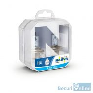 Becuri far NARVA H4 Range Power Blue, 12 V, 55 / 60 W, set 2 buc