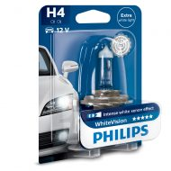 Bec far H4 Philips White Vision, 12V, 60/55W, blister 1 bec