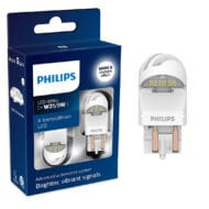 Set 2 leduri auto Philips W21/5W LED X-treme Ultinon LED gen 2, culoare alb, 12V/24V, 1.8 / 0.3 W