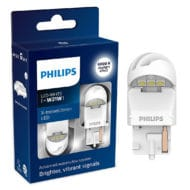 Set 2 leduri auto Philips W21W LED X-treme Ultinon LED gen 2, culoare rosu, 12V/24V, 1.7 W