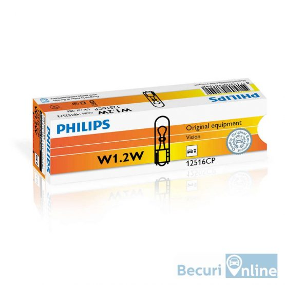 Becuri bord W1.2W Philips Vision, 12V, 1.2W