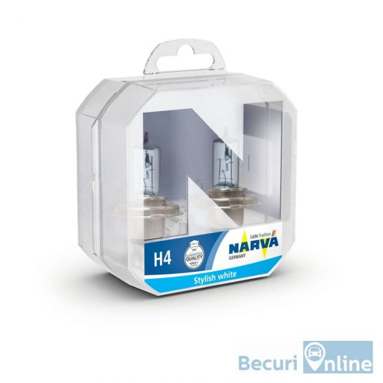 Set 2 becuri auto H4 Narva Range Power Blue, 12V, 60/55W