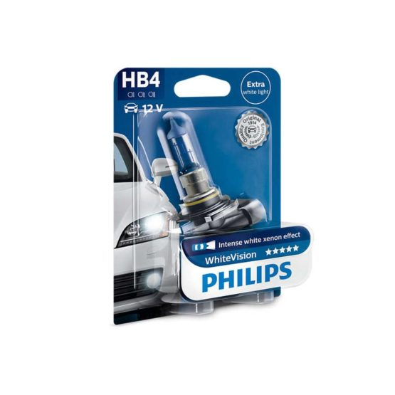 Bec far HB4 Philips White Vision, 12V, 55W, blister 1 bec
